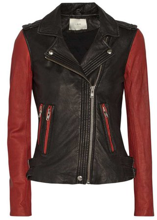 Blanca Two Tone Red/Black Moto Jacket