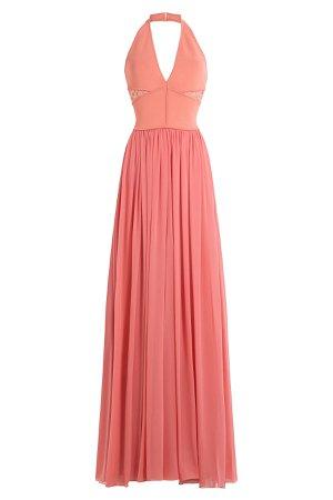 Floor Length Halter Dress with Lace Gr. FR 36