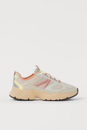 Mesh Sneakers - Beige