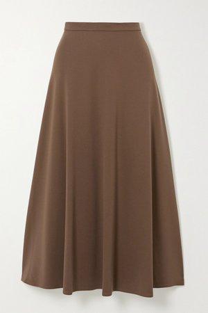 Brown Stretch-knit midi skirt | Max Mara | NET-A-PORTER