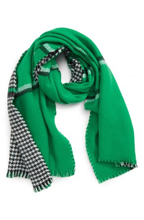 Trouvé Double Sided Check Blanket Scarf   Nordstrom