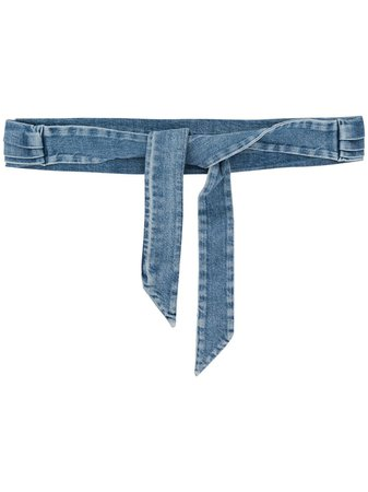 Philosophy Di Lorenzo Serafini Denim Tie Waist Belt A30060730 Blue | Farfetch