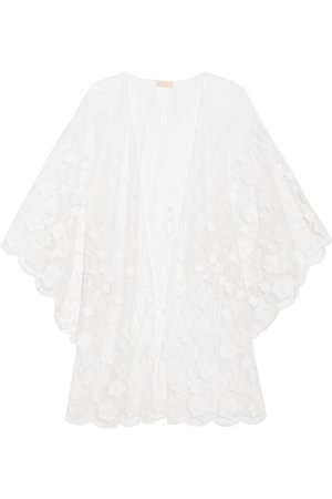 Rime Arodaky | Soaia embroidered tulle kimono | NET-A-PORTER.COM