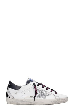 Golden Goose Superstar Sneakers In White Leather
