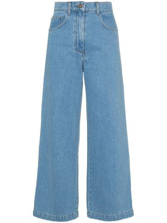 Nanushka Marfa 90s high-waisted straight leg jeans - Buy Online - Large Selection of Luxury Labels