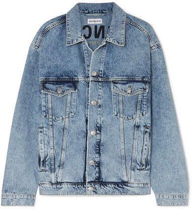 Balenciaga - Oversized embroidered denim jacket