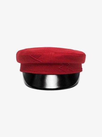 Ruslan Baginskiy Red wool baker boy cap | Hats | Browns