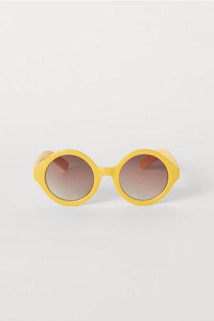 Round Sunglasses - Yellow - Kids | H&M US