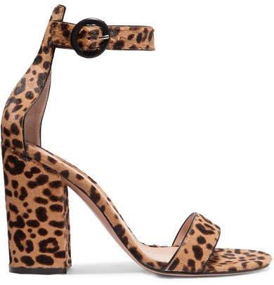 Versilia 100 Leopard-print Calf Hair Sandals - Leopard print