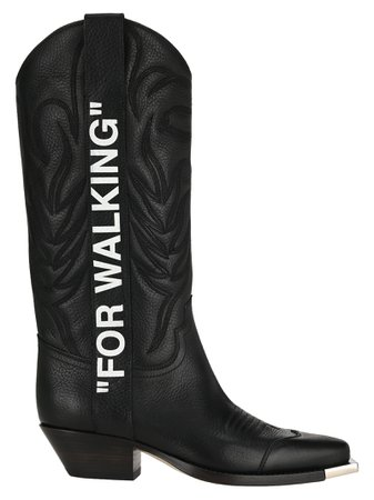 Off White Cowboy Boots
