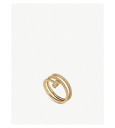 CARTIER - Juste un Clou 18ct yellow-gold and diamond ring   Selfridges.com