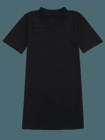 Choker Shift T-Shirt Dress