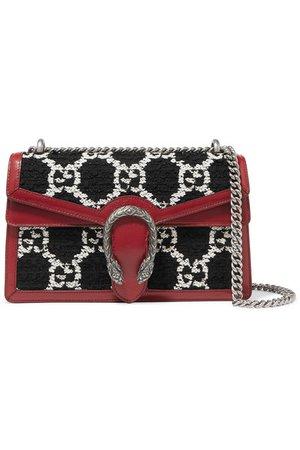 Gucci | Dionysus small leather-trimmed tweed shoulder bag | NET-A-PORTER.COM