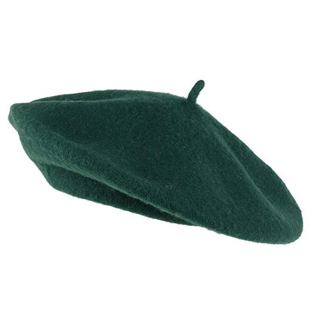Amazon.com: Hat To Socks Wool Blend French Beret for Men and Women in Plain Colours (Green): Clothing