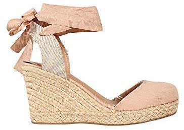 Amazon.com | Ermonn Womens Espadrille Platform Wedge Sandals Open Toe Buckle Ankle Strap High Heel Summer Shoes | Sandals