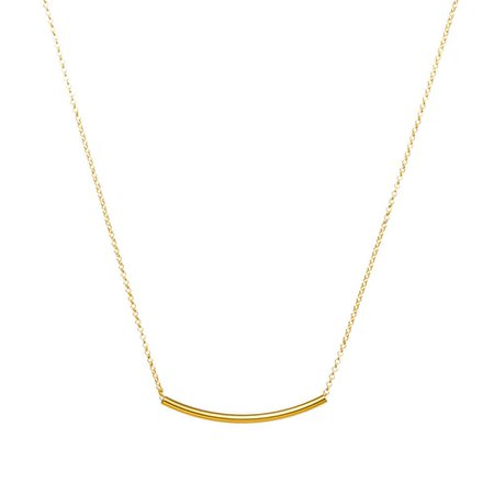 Balance Curved Tube Necklace, Gold Dipped   Dogeared