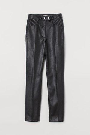 Faux Leather Pants - Black - Ladies   H&M US