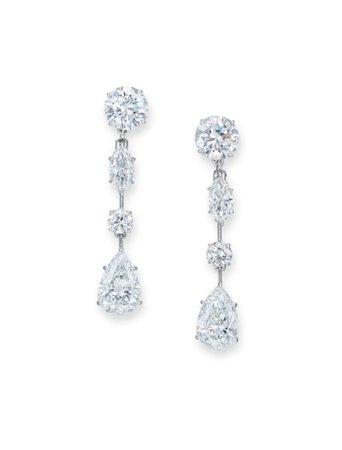DIAMOND EARRINGS, HARRY WINSTON | Jewelry, earrings | Christie's