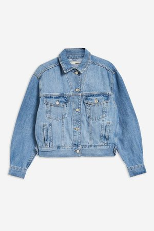 Oversized Blue Denim Jacket | Topshop