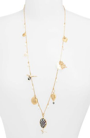 Gas Bijoux Lovely Charm & Pearl Necklace | Nordstrom