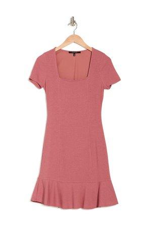 Square Neck Ruffle Hem Dress | Nordstromrack