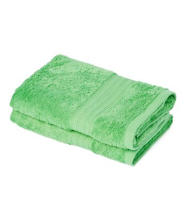 Goza Towels Light Green Hand Towel - Set of Two   Best Price and Reviews   Zulily