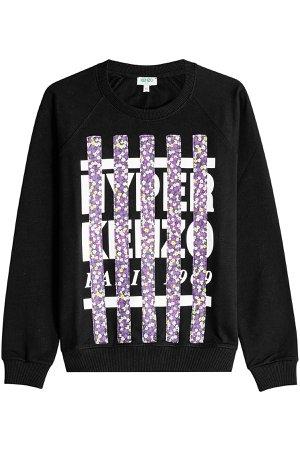 Printed Cotton Sweatshirt Gr. M