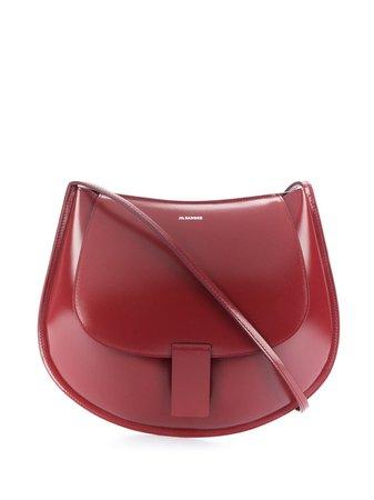 Jil Sander Rounded Leather Shoulder Bag - Farfetch