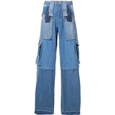 Misbhv patchwork cargo pocket jeans ($1,010)