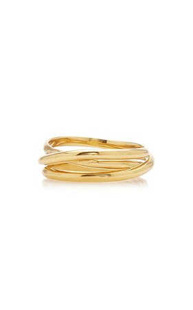 Emilie Gold-Plated Wrap Ring By Maria Black | Moda Operandi