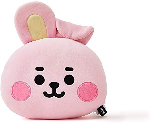 BT21 Official Merchandise by Line Friends - Cooky Character Baby Face Flat Cushion