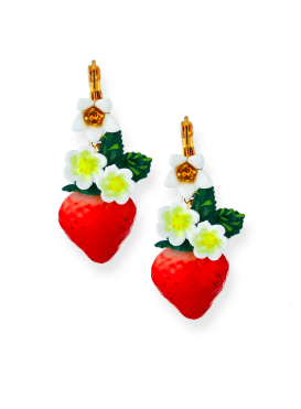 Dolce & Gabbana Crystal Strawberry Earrings