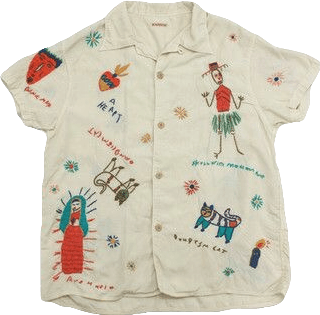 artsy buttonup clothing white shirt doodles freetoedit...