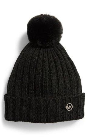 MICHAEL Michael Kors Faux Fur Pompom Hat | Nordstrom