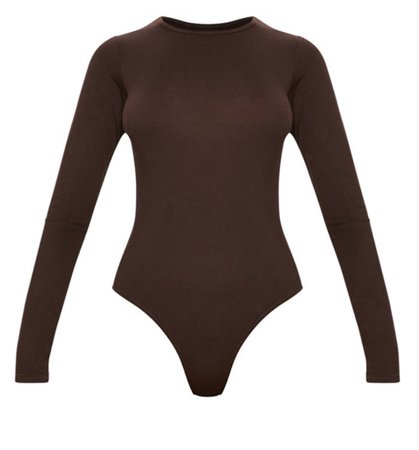 brown bodysuit