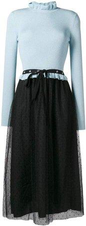 tulle skirt knitted dress