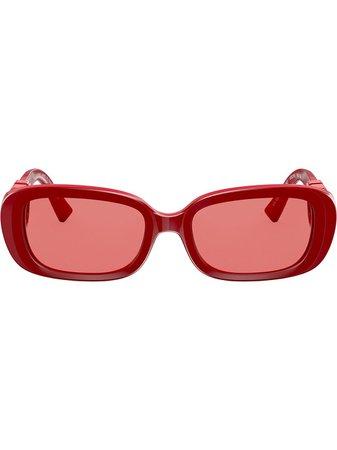 Valentino Eyewear VLOGO Ovala Solglasögon - Farfetch