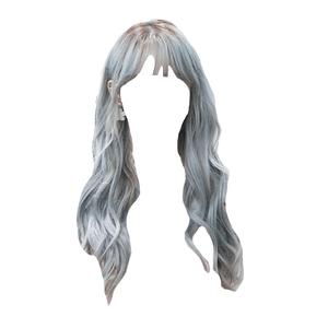 Grey Gray Silver Hair Blue PNG