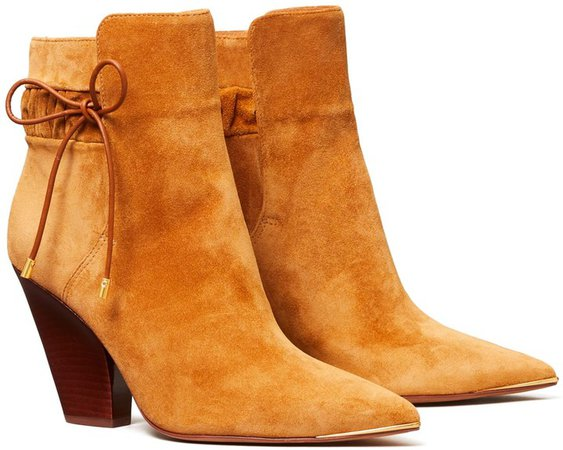 Lila Suede Scrunch Ankle Boot