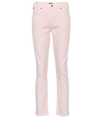 Elsa cropped mid-rise slim jeans