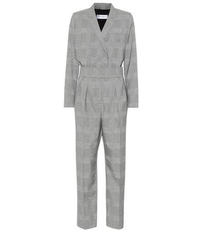 Corone checked wool jumpsuit