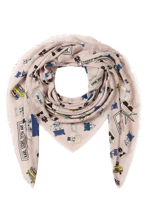 NYC Printed Scarf with Silk Gr. One Size