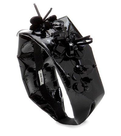 Faux-leather headband