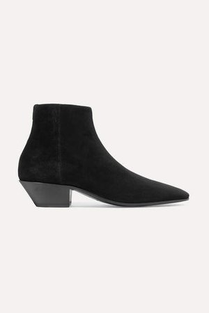 Jonas Suede Ankle Boots - Black