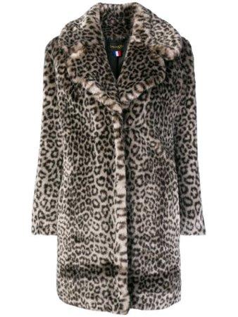 La Seine & Moi Louve faux fur coat black LOUVE - Farfetch