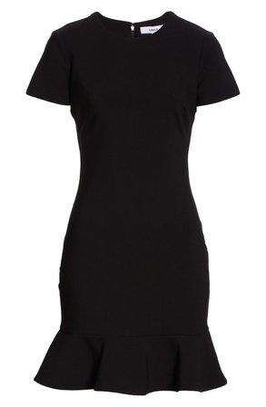 LIKELY Beckett Flounce Hem Short Sleeve Sheath Dress   Nordstrom
