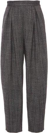 Alberta Ferretti Pleated Wool Pants