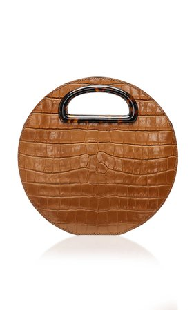 Loeffler Randall Indy Circle Crossbody In Croc Embossed Leather