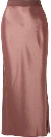 Satin Maxi Skirt - Copper