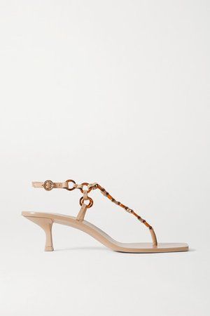 Caitlyn Embellished Leather Sandals